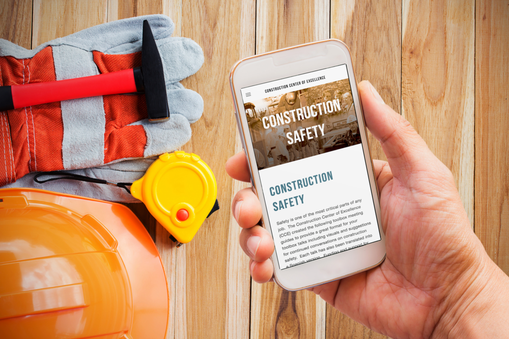 Toolbox Safety Talks - The Construction Center of Excellence (CCE) created toolbox meeting guides to provide a great format for toolbox talks including visuals and suggestions for continued conversations on construction safety. Each talk has also been translated into a Spanish version.