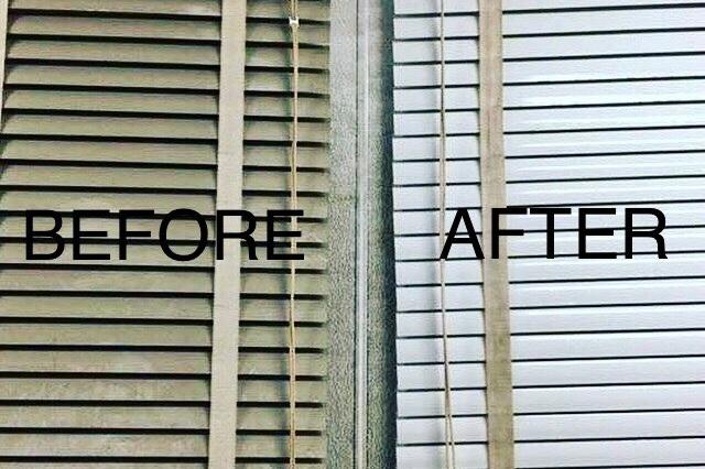 Before & After Blind Cleaning Photo -Lovitt Blinds & Drapery