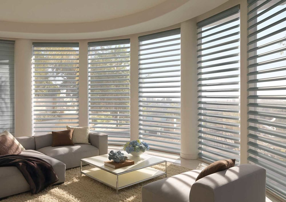 Pirouette ShadesInvisi-Lift System - A revolutionary design innovation that allows the vanes to float gracefully with no obvious cords to mar the beauty or the view through the sheer.