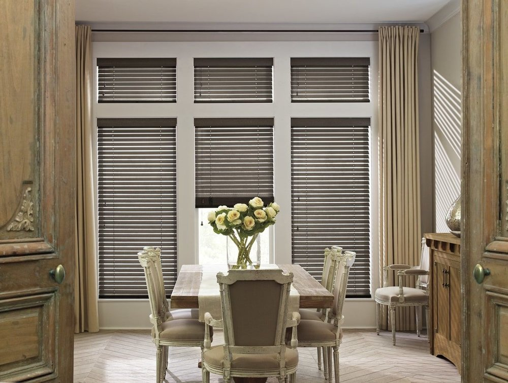 Wooden Blinds - Traditional styling and rich hardwood slats ensure Parkland® Wood Blinds complement the lines of any room.