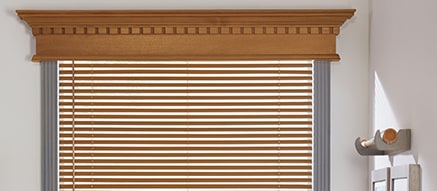 Wood Cornices… - Wood cornices are a great addition over any window treatment, especially draperies. Call today for more details!