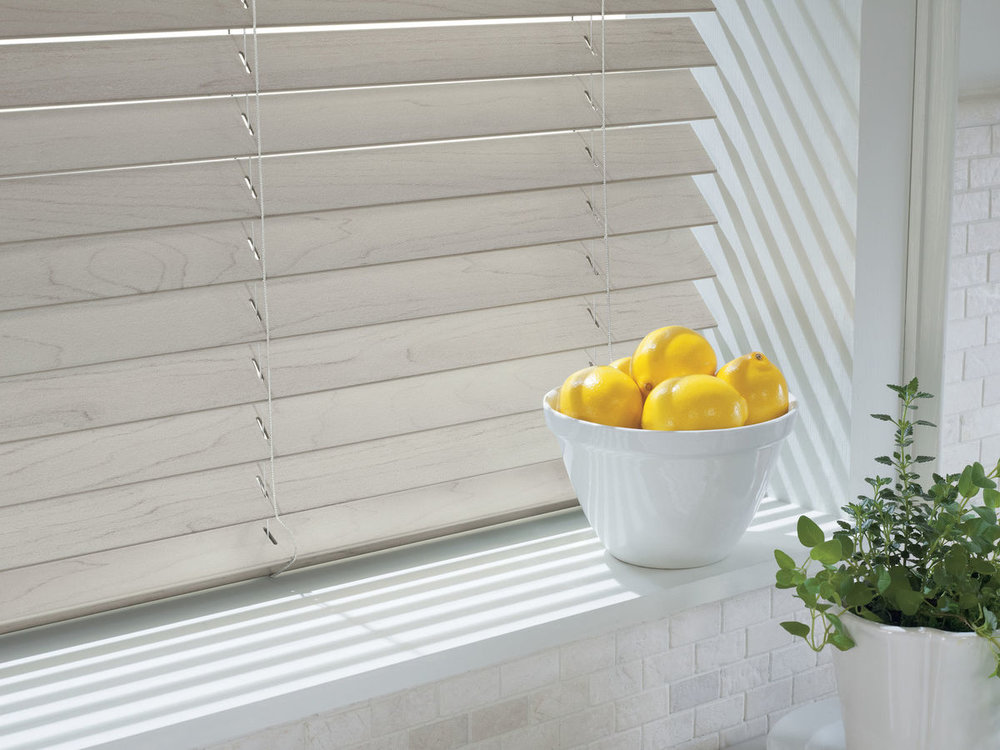 Faux Wood Blinds - This smart alternative to wood blinds has classic good looks that don't age.