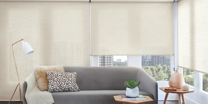 Custom Designer Roller Shades - Call us today for a FREE estimate!