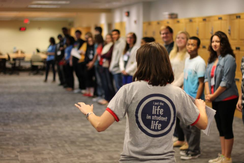 Leading a retreat for Student Leaders at the University of Maryland, Baltimore County in 2015