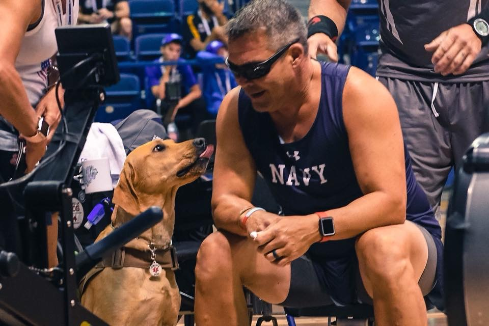 PLF-K9 Liberty Belle with handler CDR Robert Fry at 2018 Warrior Games, Colorado Springs, CO