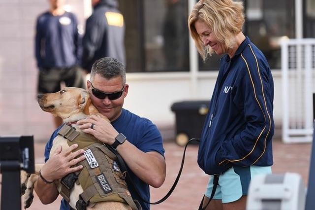 Rob didn't expect to be in a wheelchair.  His decline in mobility inspired the concept of an all inclusive training / play area for him and his Service Dog.