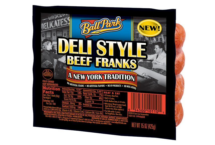 deli style beef franks | ballpark - Ball Park was looking to create value in the hot dog category with new brand extensions. Evoking the New York Deli tradition created differentiation for this hot dog and made it an instant favorite.