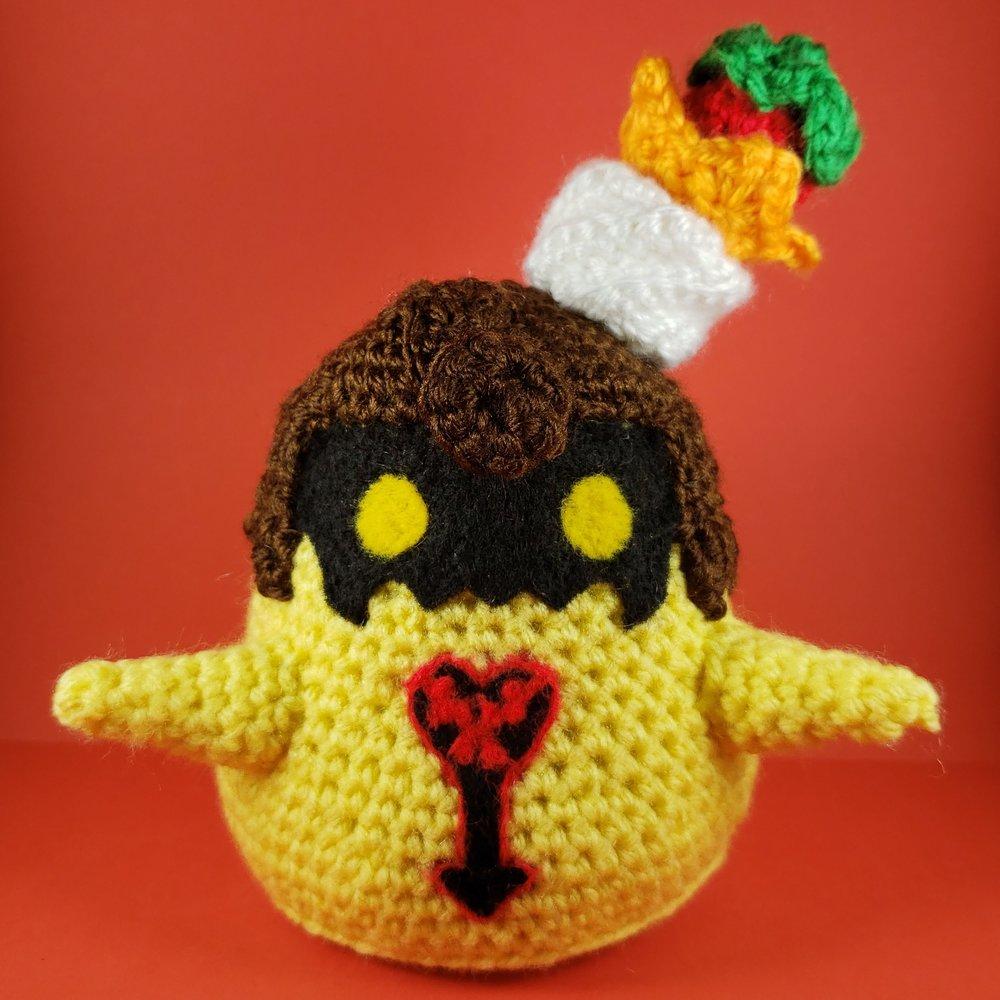 Crochet Strawberry Flan Heartless