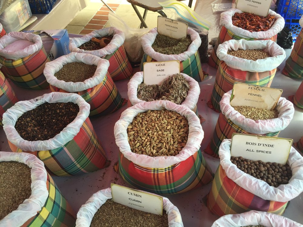 Spices in St. Martin Market - 55 by 55 Travel