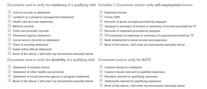 Updated Docs Required by IRS for Verification.JPG