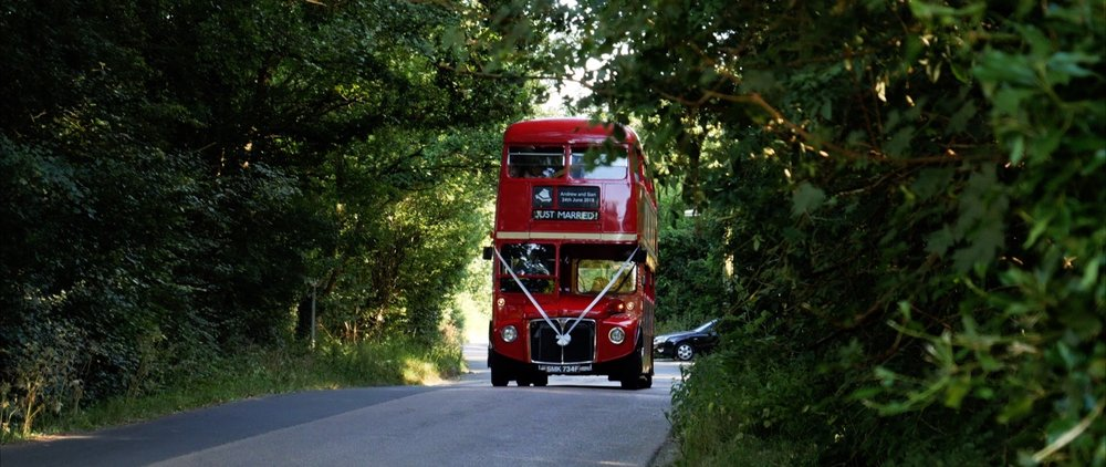 Red London Wedding Bus