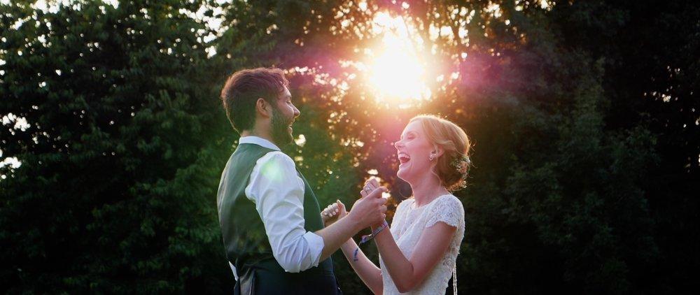 Leez Priory wedding couple