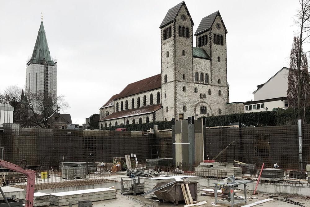 Spatenstich - Beginn der Bauarbeiten der Grundschule St. Michael in PaderbornAugust 2018