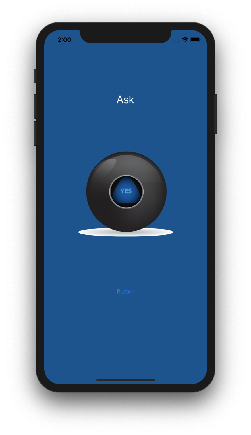 Magic 8 Ball - A single page application that gives answers when you shake the device or pres the shake button