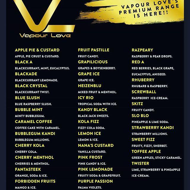🖤Vapour Love Premium Eliquid 💛 #vaping #tastebar #tastestation #taster #vapourlove #vapers #vapourlovepremiumeliquid #vapelyfe #vapepics #vapetricks #guyswhovape #girlswhovape #mods #vapeporn #vapepics #vaper #vapelife #vapeshop #vapecommunity #vapenation #vapefam #vapegirls #vapemods #vapefamily #vape #eliquid #cloudsapart💛www.vapourlove.co.uk 🖤 34 Church Street Shildon DL4 1DX 💛 01388 777761 🖤 sales@vapourlove.co.uk 💛 Retail & Wholesale