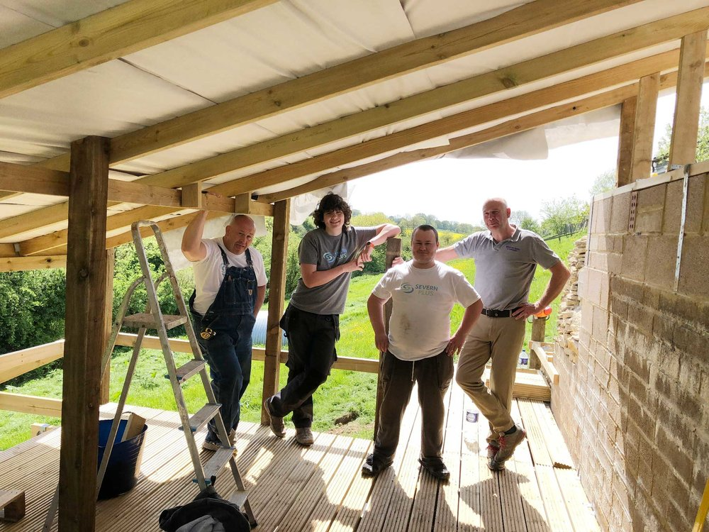 From Left : Dave Reeves Founder Severn Plus.  Little  John, Josh and…