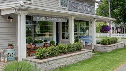 Phoebe and Belle_outside front entrance home garden sign.jpg