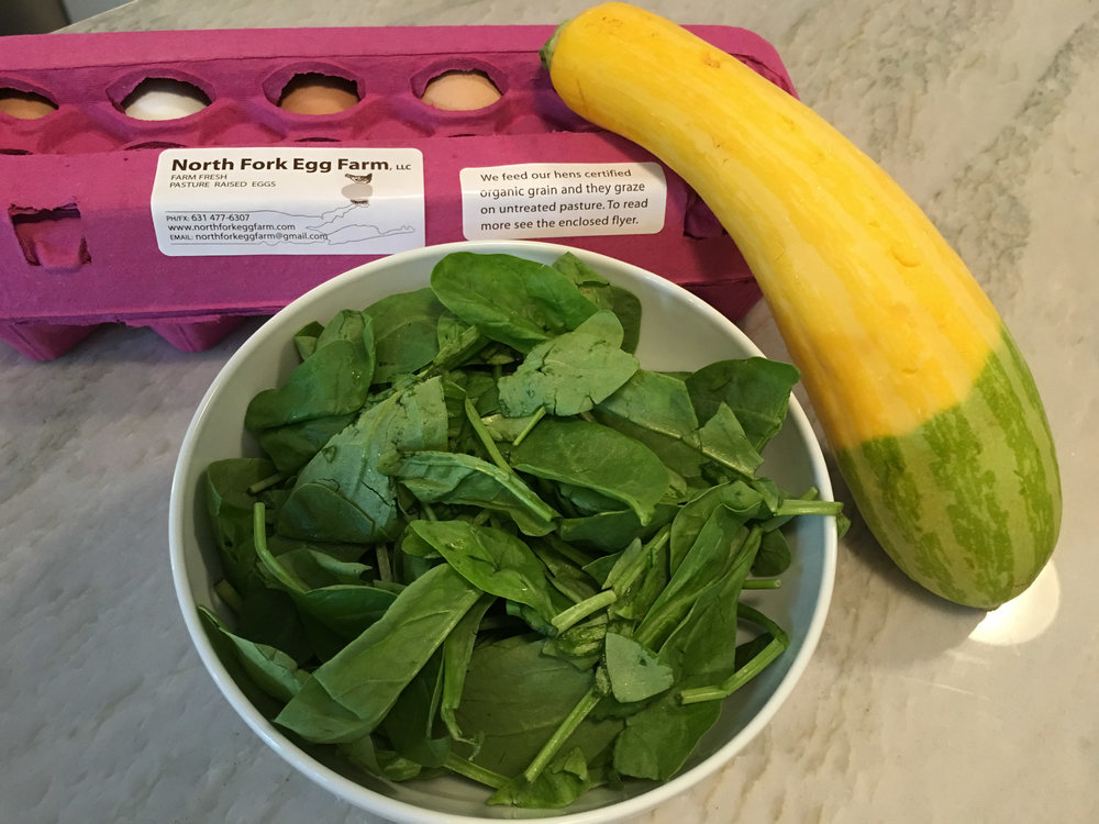zucchini and leek frittata ingredients sang lee eggs.jpg