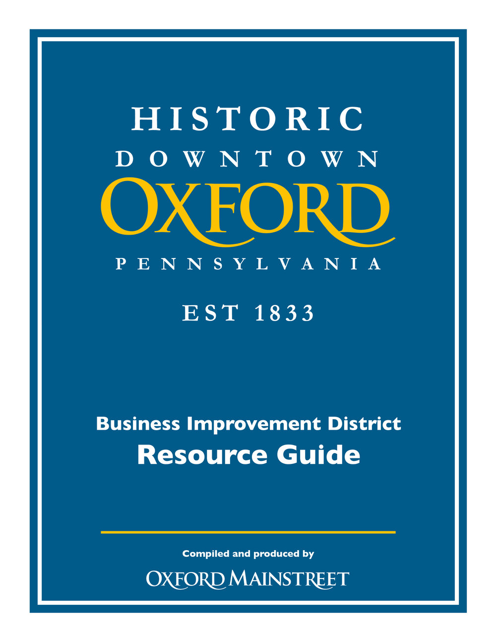 Business Improvement District Resource Guide -