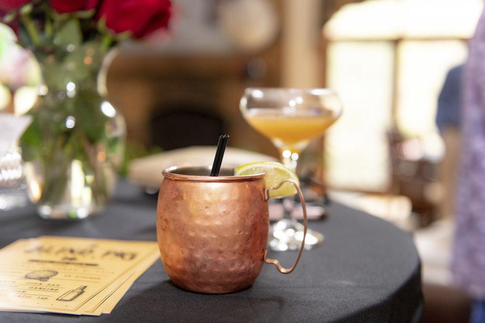 - Mules, Juleps, Gins, plus a full bar