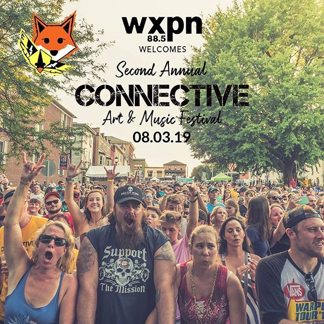 """We are very excited to share that Philadelphia-based member-supported radio station @wxpnfm  has recognized the 2019 Connective Art & Music Festival as an official """"XPN Welcomes"""" event.  WXPN is known for its support of new and upcoming artists. Of the lineups that have been released WXPN favorites include @swifttechnique, @thenationalreserve, @jawny_b_goode (Ali Awan) and Trout Fishing in America!  We are thrilled to have WXPN as our exclusive radio sponsors!  Who is ready for the next release? #connectivefestival"""