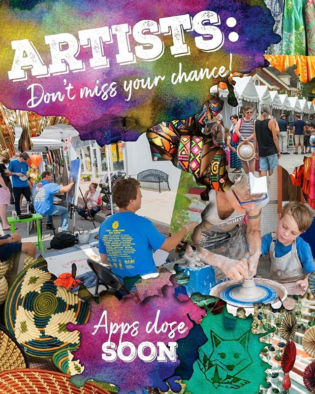 Time is running out!! World Market Artists, Art Demonstrators, and Street Painters, today is the LAST DAY to apply to be a part of the best day of summer!  Applications and more information can be found on our website 🎨🦊🎸 #connectivefestival