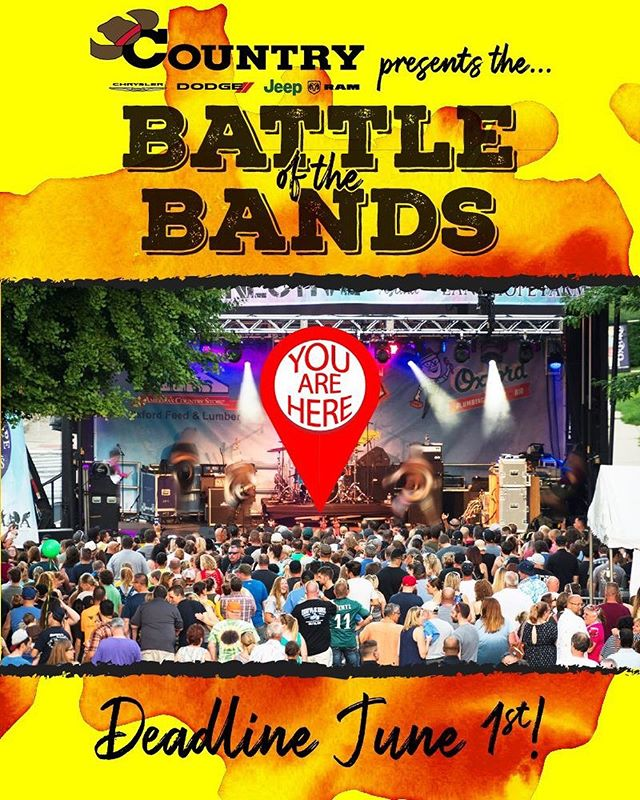 On the morning of Saturday August 3rd, the World Stage and Americana Stage will fire up with live music. At 1 p.m. both will go silent and all eyes and ears will be on… YOU?! That's right! This year's Battle of the Bands winner will get $500 and open the Main Stage for the 2nd Annual Connective Art & Music Festival! Digital auditions are being accepted through JUNE 1st. Bands chosen to compete will perform in the @country_dodge Battle of the Bands at First Friday on August 2nd. Cash prizes will also be awarded to second and third place winners! Your $15 application fee benefits the Oxford Arts Alliance and Oxford Mainstreet Inc. Click here for more info: https://www.connectivefestival.org/battleentry