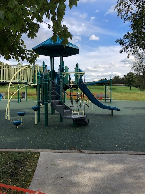 Playground   In Sept 2018, a new playground was installed with an innovative pour in play surface for a safer play space.