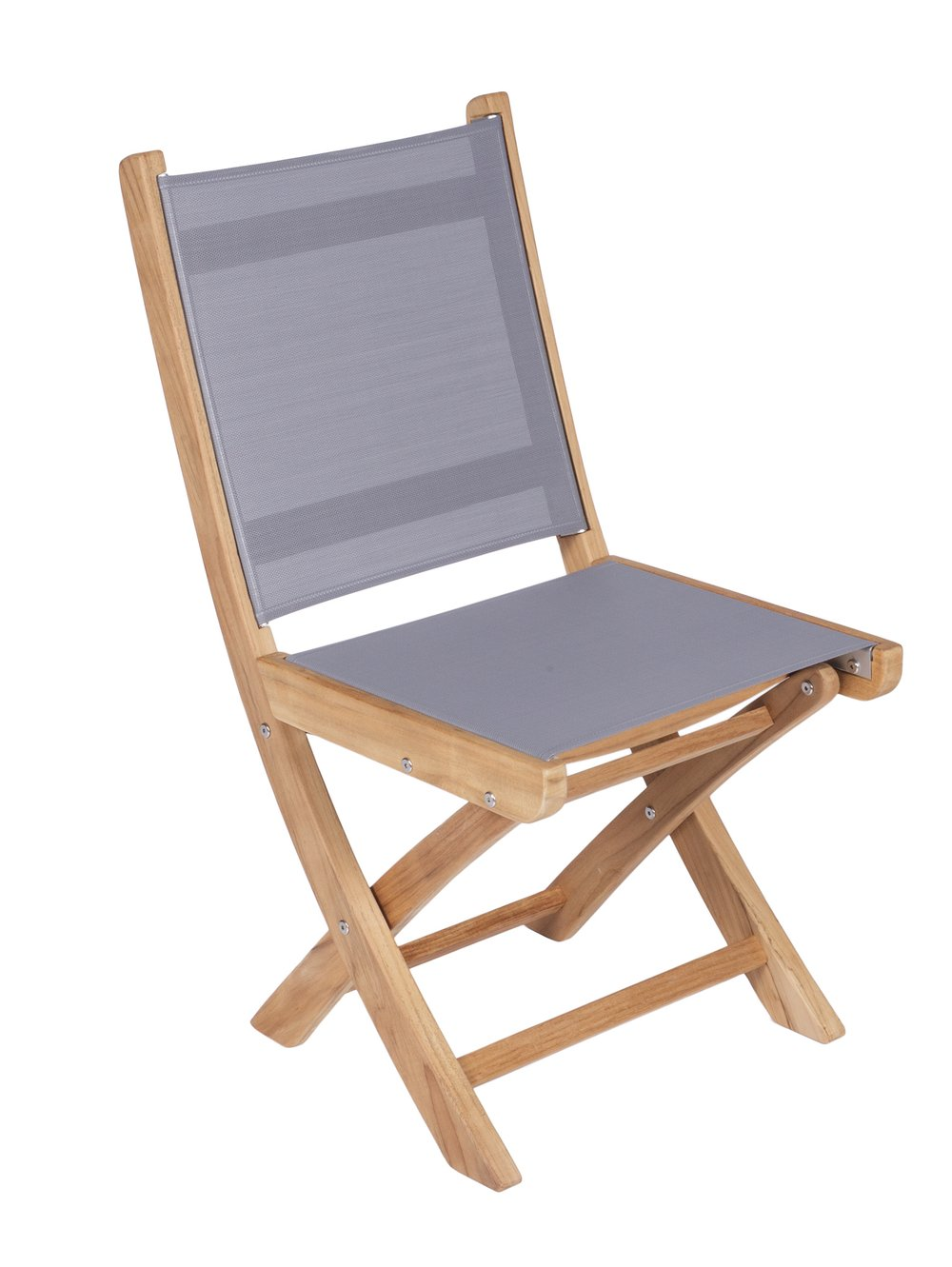 ROYAL TEAK - Sailmate Folding Side Chair    Sling Colors : Navy, Moss, Grey, Black & White