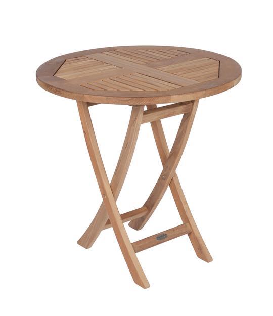 "ROYAL TEAK - 30"" Round Sailor Folding Table    30""D x 29.5""H  Seats 2"