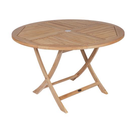 "ROYAL TEAK - 47"" Round Sailor Folding Table    47""D x 29.5""H  Seats 4 - 5"