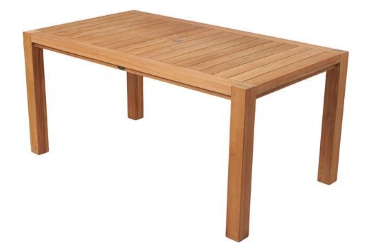 "ROYAL TEAK - Comfort Table    63'""L x 35""D x 29.5""H  Seats 4 - 6   96""L x 35""D x 29.5H""  Seats 6 - 8"