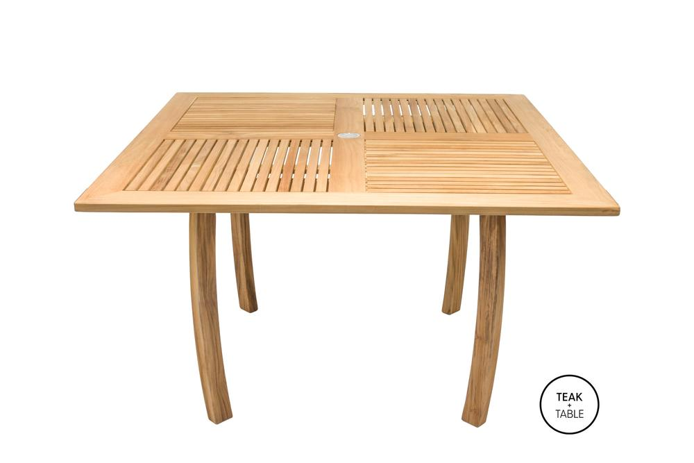 "ROYAL TEAK - 50"" Square Dolphin Table    50""W x 50""D x 29.5""H  Seats 4 - 8"