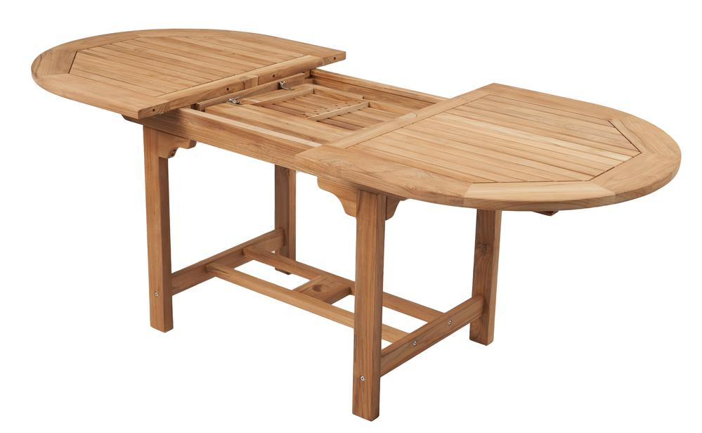 """ROYAL TEAK - Family Expansion Table Oval -  Available in 3 sizes   60""""/78""""L x 35""""W x 29.5""""H  Seats 4-8   72""""/96""""L x 39""""W x 29.5""""H  Seats 6-8   96""""/118""""L x 42""""W x 29.5""""H  Seats 8-12"""