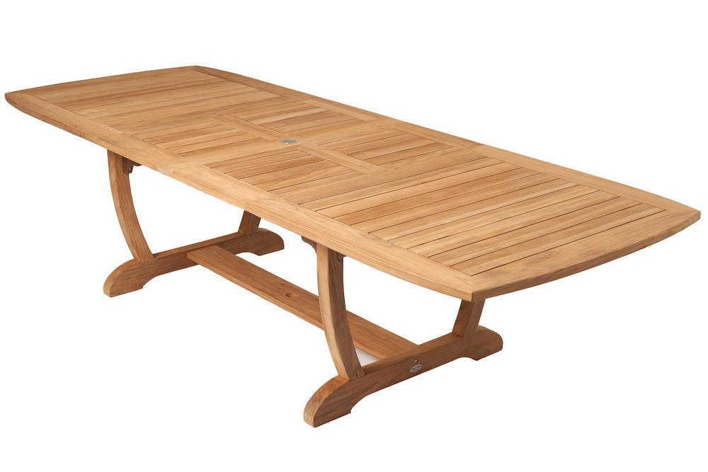 """ROYAL TEAK - Gala Double Leaf Table  Available in 2 sizes   64/80/96""""L x 39""""W x 29.5'H  Seats 6 - 8   84""""/101""""/118""""L x 43.5""""W x 29.5""""H  Seats 8 - 12"""