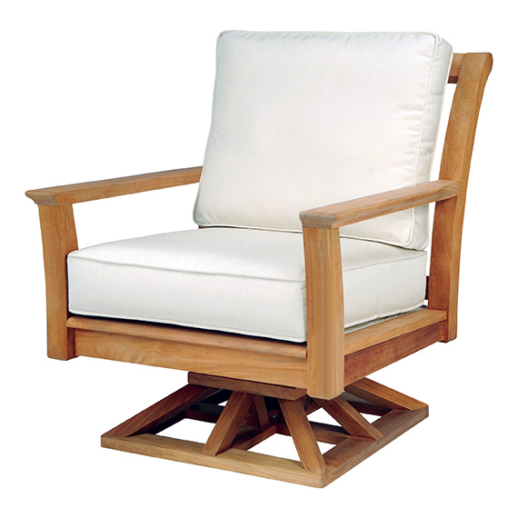 Kinglsey Bate |  Chelsea Teak Swivel Club Chair