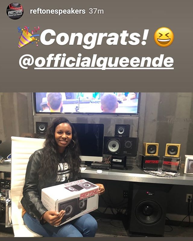 This made me so happy!... 2019 is 🔥thank you @rance1500 and @nipseyhussle for putting on such a great event. Thank you @reftonespeakers for the dope gear!!! . . . . #femaleengineer #femalerappers #audioengineer #hiphop #rap