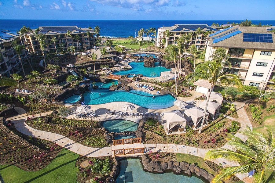 KOLOA LANDING AT POIPU BEACH - Kauai, HINineteen, four story reinforced concrete structures with post-tensioned slabs for 323 luxury condominium projects.Contractor: LAYTON CONSTRUCTIONArchitect: GROUP 70/ ARCHITECTS HAWAII