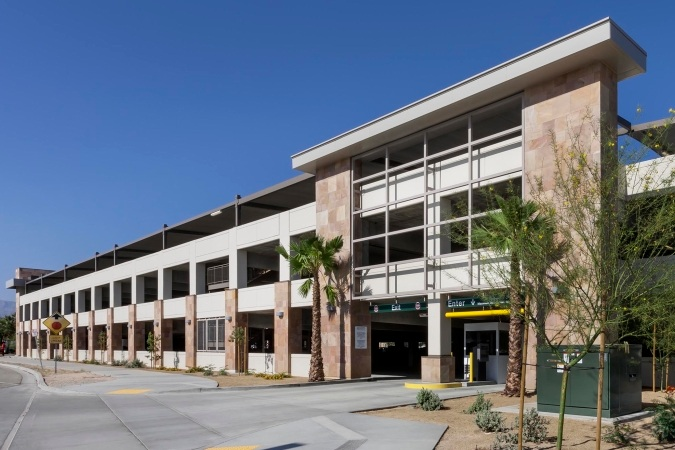COUNTY OF RIVERSIDE PARKING STRUCTURE - Indio, CAThree story post-tensioned concrete structure for 636 cars.Contractor: McCARTHYArchitect: INTERNATIONAL PARKING DESIGN (IPD)