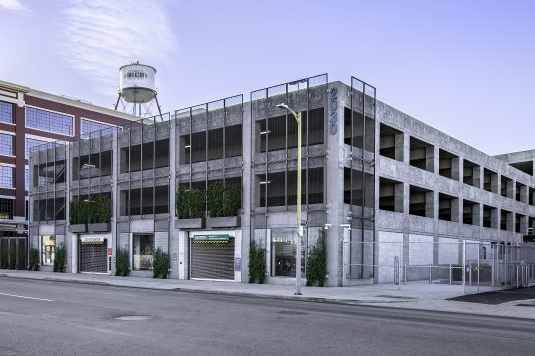 FORD MOTOR FACTORY 7TH STREET PARKING STRUCTURE - Los Angeles, CAFive story post-tensioned concrete structure for 604 cars.Contractor: ARB STRUCTURESArchitect: HNA/PACIFIC