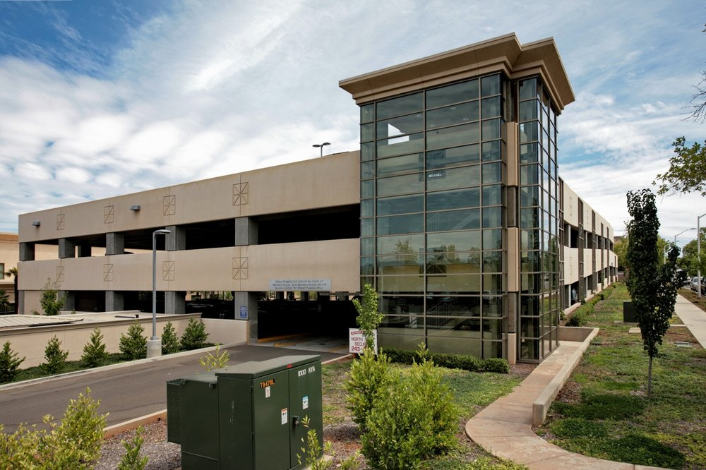 SHASTA COUNTY PARKING STRUCTURE - Redding, CAThree story concrete structure with precast columns and double-tees with a cast-in-place topping slabs for 292 cars.