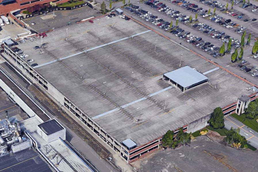 INTEL RAP1 PARKING STRUCTURE - Hillsboro, ORThree story concrete structure with precast columns and beams and cast-in-place, post-tensioned slabs for 1200 cars.Contractor: PCLArchitect: INTERNATIONAL PARKING DESIGN (IPD)