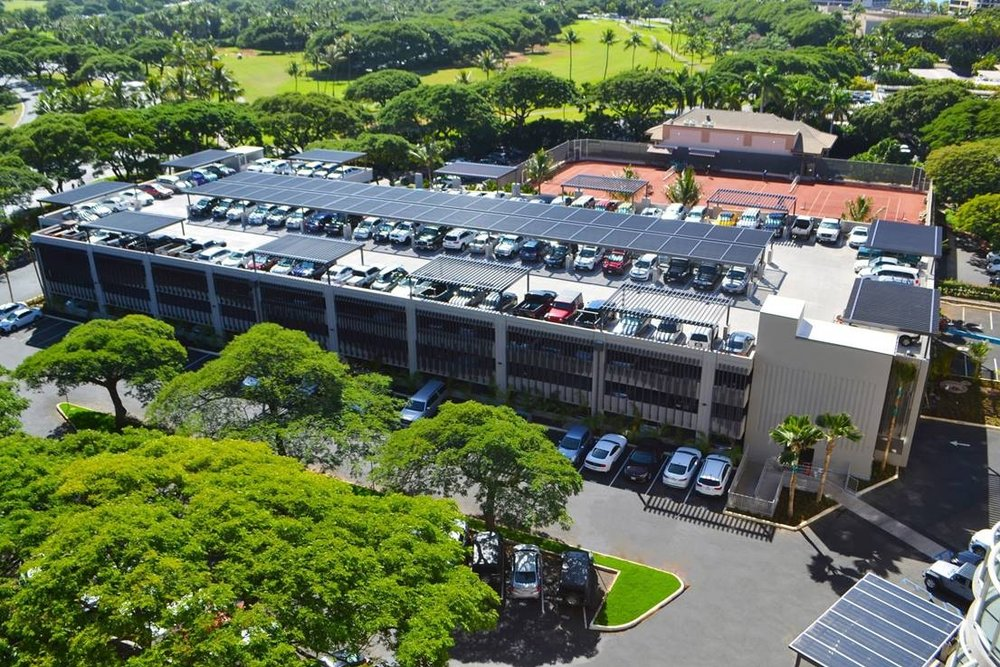 THE WESTIN MAUI PARKING STRUCTURE - Ka'anapali, Maui, HIFour story post-tensioned concrete structure for 351 cars.Contractor: NORDIC PCL