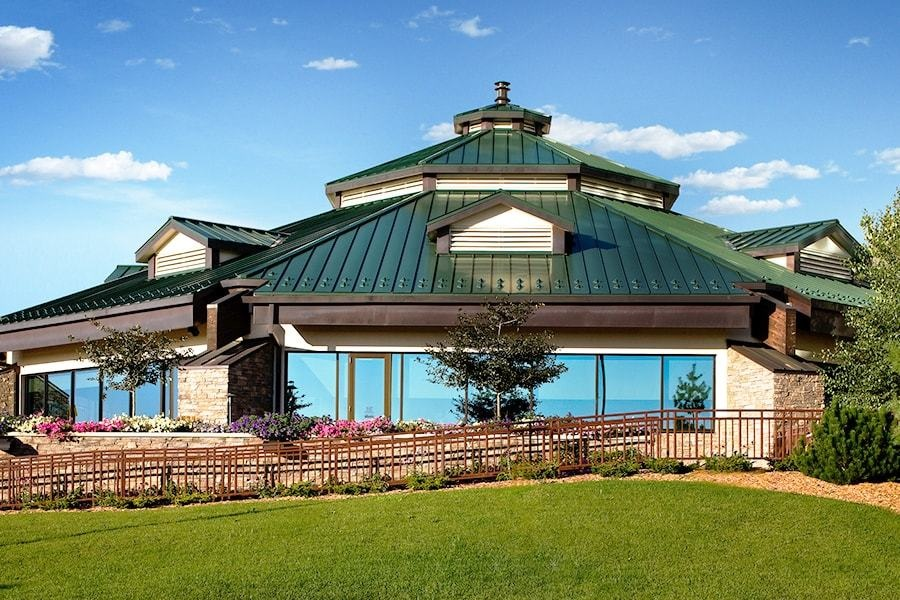 mystic lake the meadows golf club house - Prior Lake, MNReinforced concrete and structural steel structure and roof with basement level of approximately 41,00 square feet.Architect: BERGMAN, WALLS & ASSOCIATES