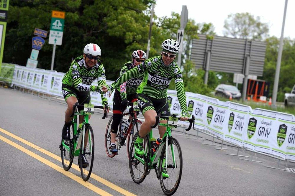 Cristiano & Vito at the finish - GFNY 2016