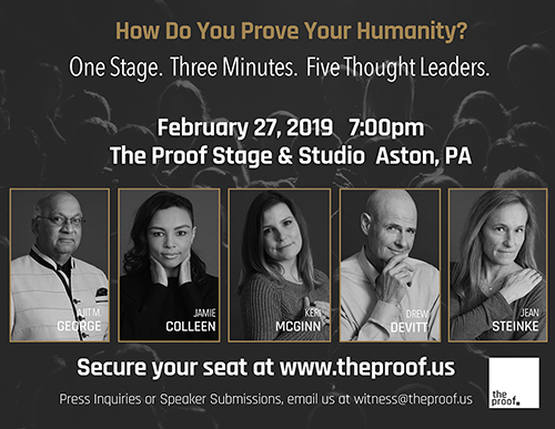 "February 27, 2019 - THIS INAUGURAL EVENT IS SOLD OUT!!Enjoy an evening where five thought leaders and entrepreneurs share their inner most drive that leads them into action and how that ""why"" is manifested today to advance humanity.Food, refreshments and post event party and mingle."