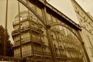 Paris reflected through a market
