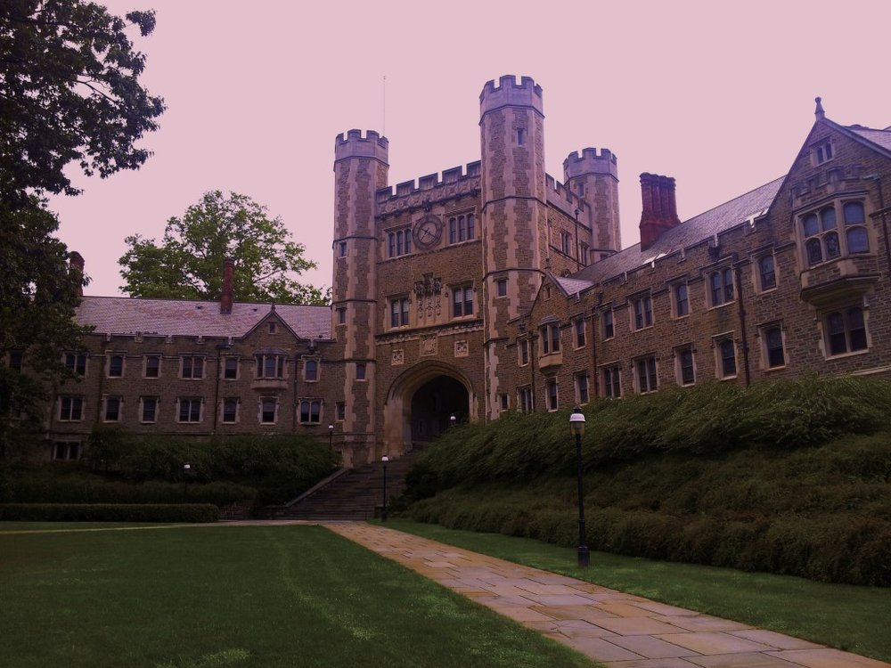 Before WW1, this was the main gate to Princeton. I walked through its gothic splendor each morning