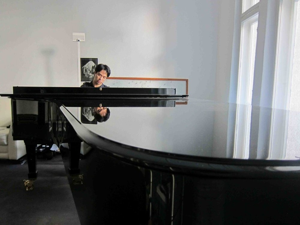 Very rare to have a ten-foot Fazioli concert grand in a private home, for many reasons including sheer size and cost–this piano had to be lifted by crane through the window.