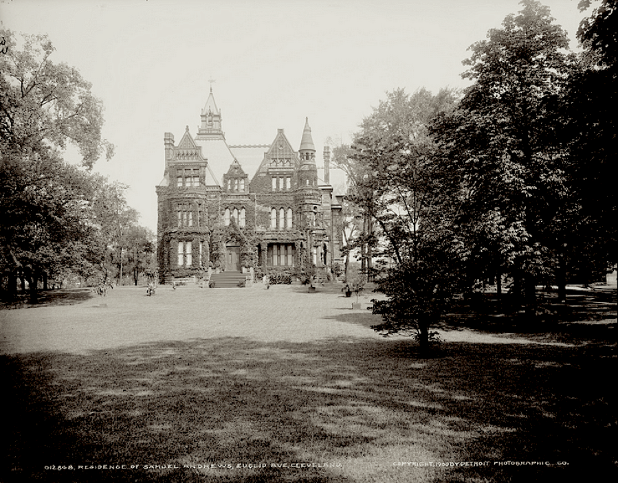 The 50,000 sq.-ft. mansion belonging to Samuel Andrews (an associate of Rockefeller)--it had 33 rooms and required a full-time staff of 100 servants. It was designed to host the Queen of England; several U.S. Presidents visited instead.